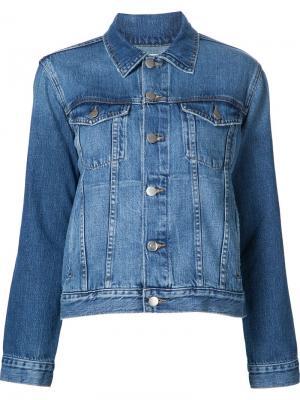Джинсовая куртка Le Original Frame Denim. Цвет: синий