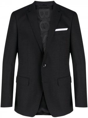 Однобортный пиджак Hutsons BOSS. Цвет: черный