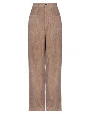 Повседневные брюки PINKO. Цвет: светло-коричневый