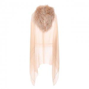 Кашемировая шаль Vintage Shades. Цвет: бежевый