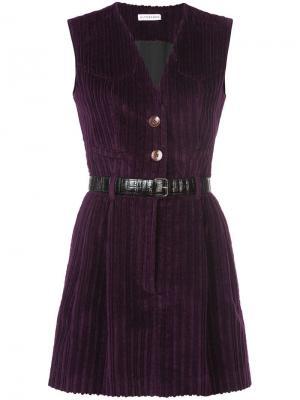 Вельветовое платье с поясом Altuzarra. Цвет: фиолетовый