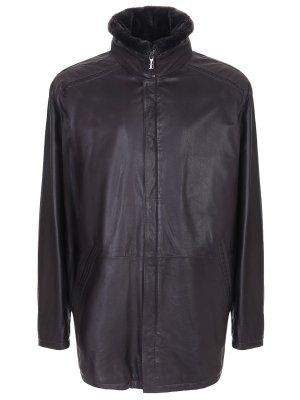Куртка кожаная с мехом овчины TORRAS