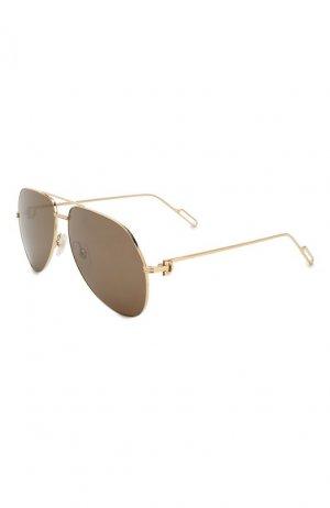 Солнцезащитные очки Cartier. Цвет: золотой