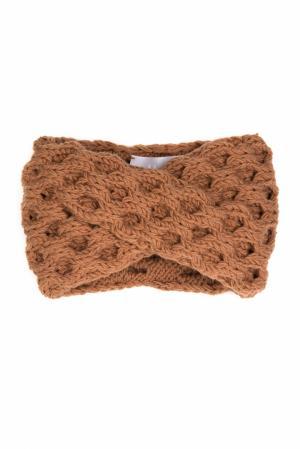 Шерстяная повязка 7II. Цвет: коричневый