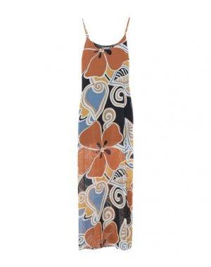 Длинное платье SANDRO FERRONE. Цвет: коричневый