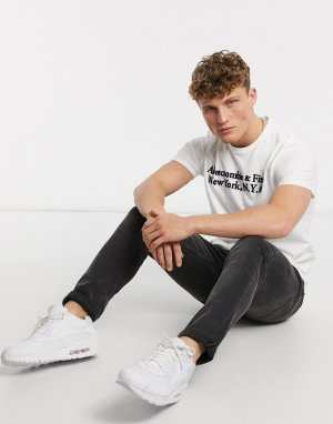 Белая футболка с логотипом -Белый Abercrombie & Fitch