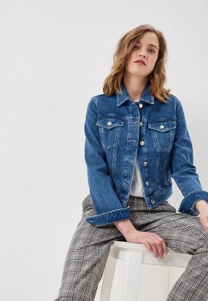 Куртка джинсовая Hugo Boss. Цвет: синий
