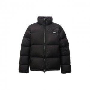 Пуховая куртка VETEMENTS. Цвет: чёрный