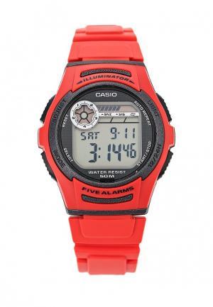 Часы Casio Collection W-213-4A. Цвет: красный
