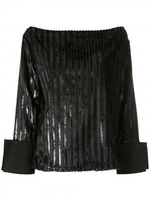 Блузка с вырезом-лодочкой Gloria Coelho. Цвет: черный