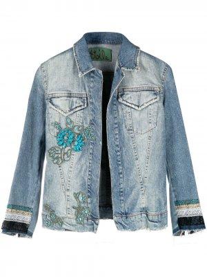 Декорированная джинсовая куртка 1990-х годов A.N.G.E.L.O. Vintage Cult. Цвет: синий