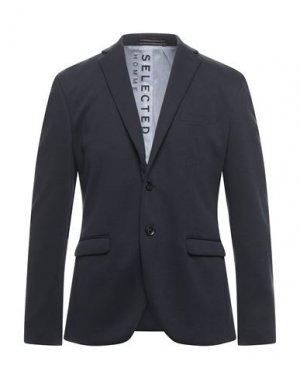 Пиджак SELECTED HOMME. Цвет: темно-синий