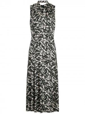 Платье с абстрактным принтом Jason Wu. Цвет: черный