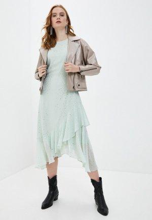 Куртка кожаная Снежная Королева TPD4LS20. Цвет: бежевый