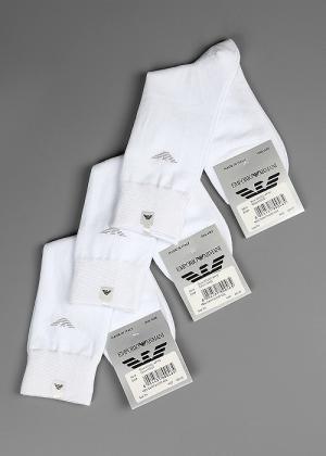 Носки EMPORIO ARMANI. Цвет: белый