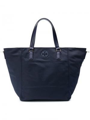 Маленькая сумка-тоут Tilda Tory Burch. Цвет: синий