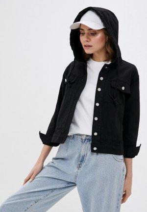 Куртка джинсовая Fadas. Цвет: черный