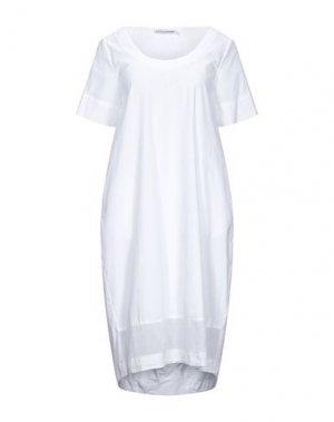 Платье до колена EUROPEAN CULTURE. Цвет: белый