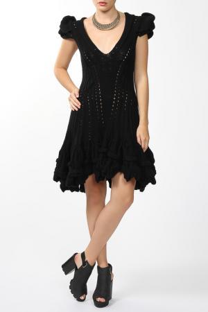 Платье джерси Dennis Basso. Цвет: черный