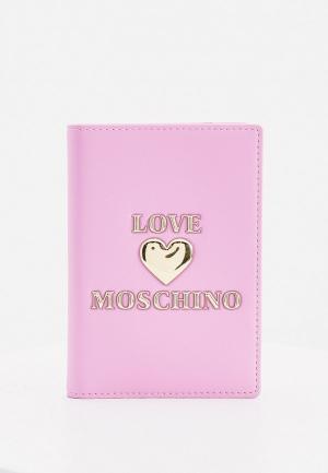 Обложка для паспорта Love Moschino. Цвет: фиолетовый