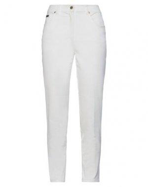 Повседневные брюки CLIPS. Цвет: белый