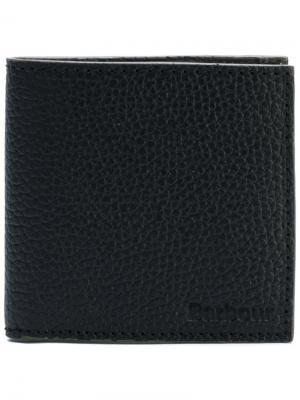 Бумажник с зернистой фактурой Barbour. Цвет: черный