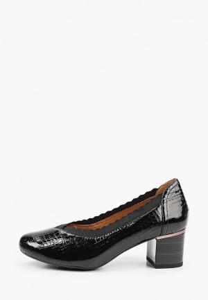 Туфли Caprice увеличенная полнота H, Comfort. Цвет: черный