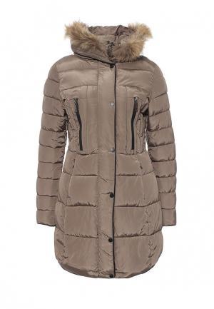 Куртка утепленная Fantasy. Цвет: коричневый