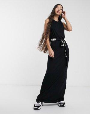 Черное платье -Черный Dr Denim