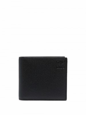Бумажник из зернистой кожи LOEWE. Цвет: черный