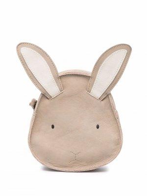 Pop-ears leather shoulder bag Donsje. Цвет: нейтральные цвета