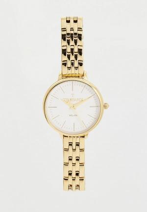 Часы Trussardi. Цвет: золотой