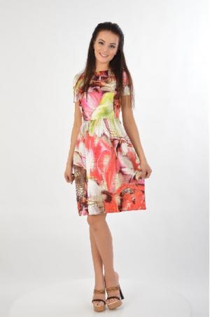 Платье RoccoBarocco. Цвет: разноцветный