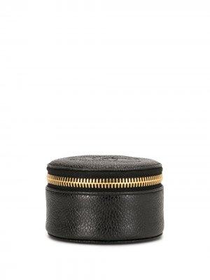 Шкатулка для украшений 1995-го года с логотипом CC Chanel Pre-Owned. Цвет: черный