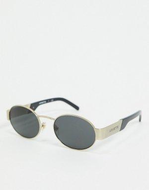Золотистые круглые солнцезащитные очки 0AN3081-Золотой Arnette