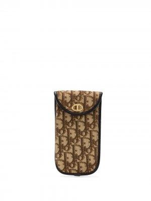 Футляр для солнцезащитных очков 1970-х годов с узором Trotter Christian Dior. Цвет: коричневый