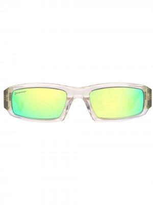 Солнцезащитные очки Les Lunettes 97 в прямоугольной оправе Jacquemus. Цвет: зеленый