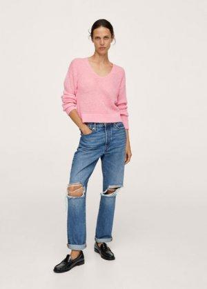 Пуловер из трикотажа - Gery Mango. Цвет: пастельно-розовый