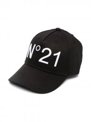 Бейсболка с логотипом Nº21 Kids. Цвет: черный