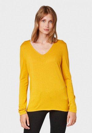 Пуловер Tom Tailor. Цвет: желтый