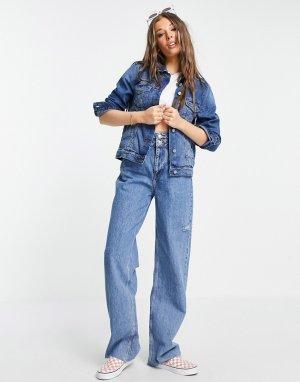 Синяя выбеленная джинсовая куртка Bloom-Голубой Brave Soul