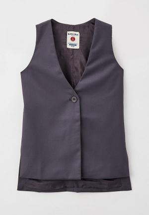 Жилет Button Blue. Цвет: серый