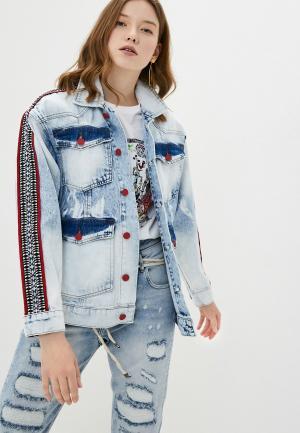 Куртка джинсовая Desigual NEW TALENTED. Цвет: голубой