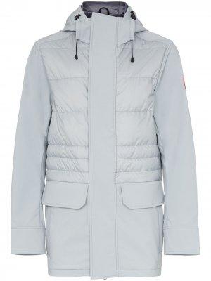 Куртка-пуховик Breton с капюшоном Canada Goose. Цвет: серый