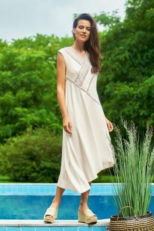 Платье женское Laete. Цвет: молочный