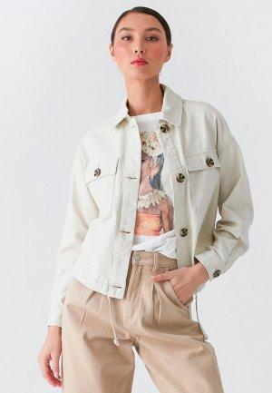 Куртка джинсовая Love Republic Exclusive online. Цвет: бежевый