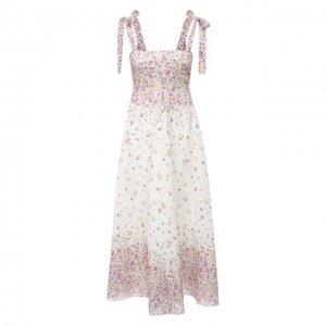 Льняное платье Zimmermann. Цвет: розовый