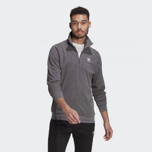 Флисовый свитшот Adicolor Essentials Originals adidas. Цвет: серый