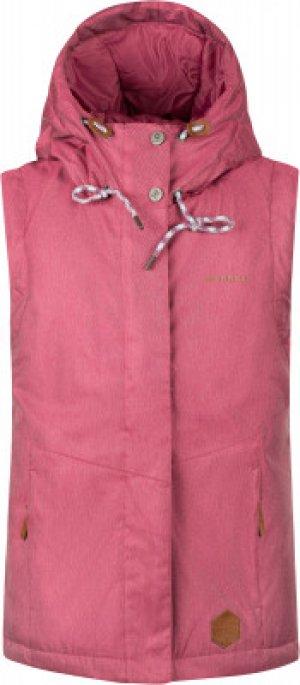 Жилет утепленный для девочек , размер 140 Merrell. Цвет: розовый