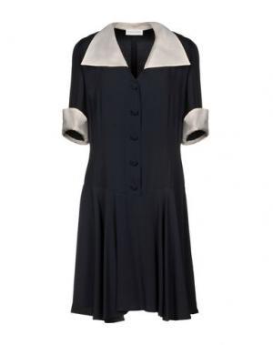 Короткое платье FIORELLA RUBINO. Цвет: темно-синий